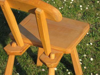 schwerer massivholz stuhl buche spiel holz. Black Bedroom Furniture Sets. Home Design Ideas